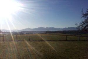 Ausblick von unserem Hof auf die Berge