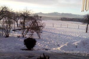 Schneebild unseres Hofes